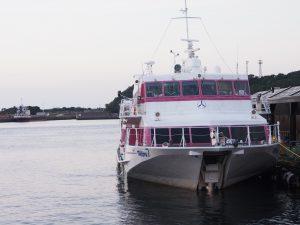 屋久島まで高速船で約2時間